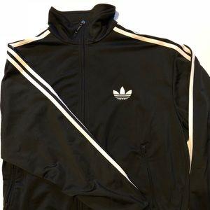 Adidas three stripe zip up sweater. XL